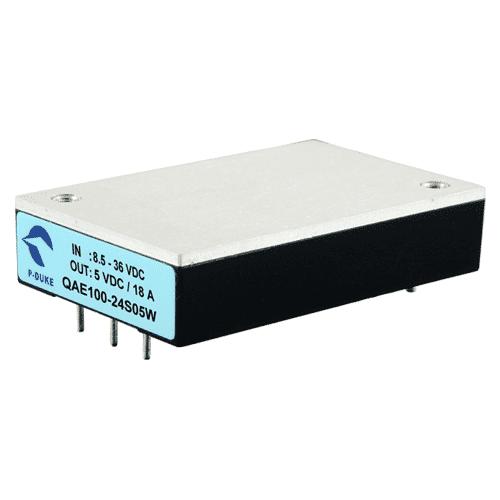 QAE100W EN50155 Rail standards DC/DC Converter 100W. 2250VDC Insolation.High operating temperature.3.3V, 5V, 12V, 15V, 24V, 30V or 48VDC output voltage