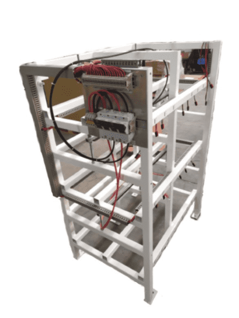 BR154 Battery Rack 3 tier for 18XNSB210FT HT RED 210AH Front Terminal High-temperature battery