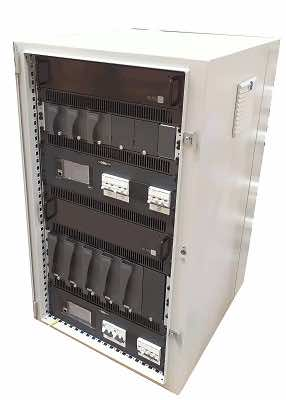Dual - Three Phase Input 5.5kW 110VDC Float Charger + Three Phase Input 1.2kW 24VDC Float Charger -21U Floor Mount Cabinet